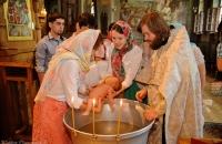 Крещение в церкве в Ботаническом саду