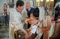 Крещение ребенка в киевской церкви