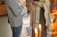 Крещение ребенка в Лавре