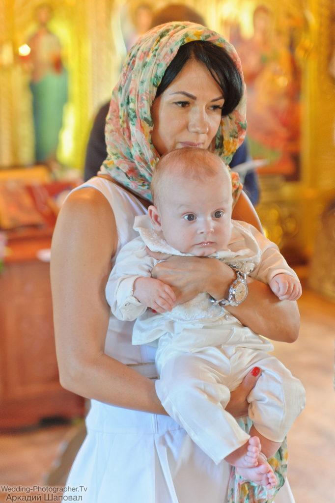 Крещение ребенка. Храм иконы Божией Матери Всецарица