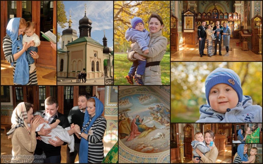 Крещение ребенка в Ботаническом саду (Свято-Троицкий Ионинский монастырь)