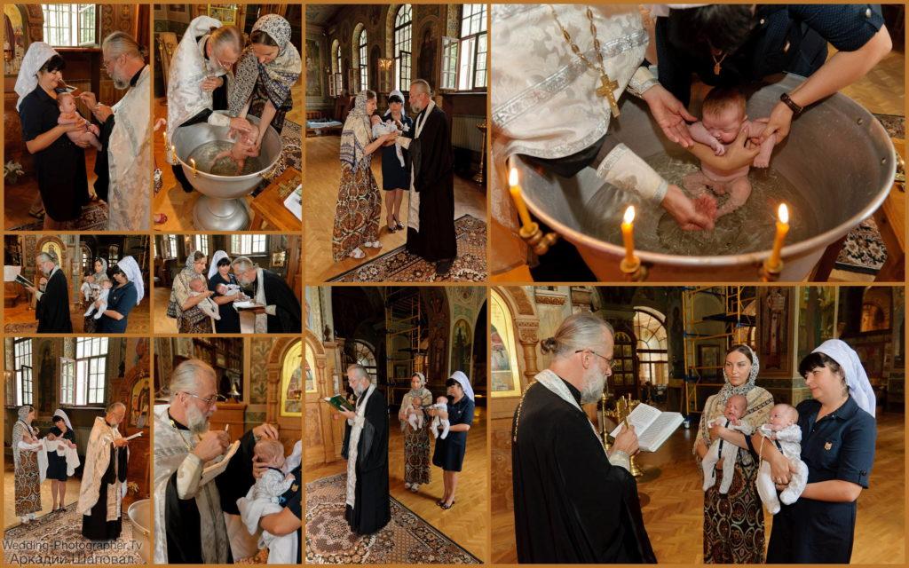 Крещение ребенка в Ионинском монастыре на территории Ботанического сада