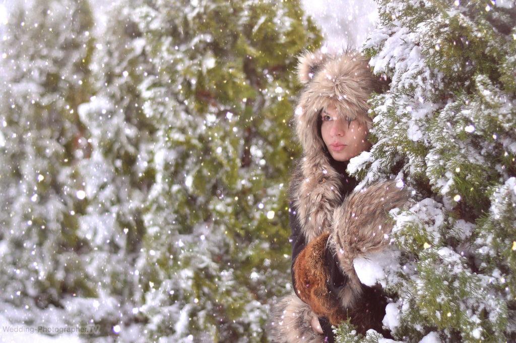 Снежная фотосессия